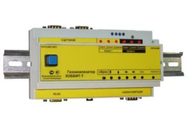 Газоанализаторы двуокиси серы (сернистого ангидрида) с креплением на DIN-рейку без цифровой индикации показаний Хоббит-Т-SO2