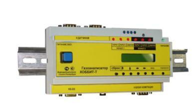 Газоанализаторы хлористого водорода (паров соляной кислоты) с креплением на DIN-рейку с цифровой индикацией показаний ОКА-Т-HCl