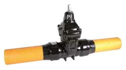 Задвижка для газа AVK магистральная для PN 4 с ПЭ патрубками, тип 36/90