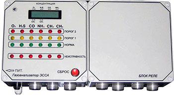Газоанализатор ЭССА для канализационных насосных станций