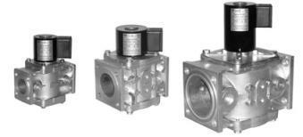 Клапаны электромагнитные ВН газовые фланцевые алюминиевый корпус