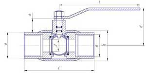 Краны шаровые газовые LD муфтовые стандартнопроходные