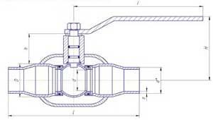Краны шаровые LD для газа приварного соеднинения полнопроходные