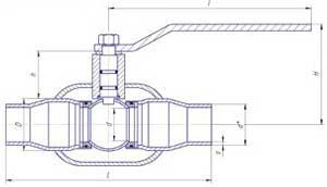 Краны шаровые LD для жидкости под приварку полнопроходные