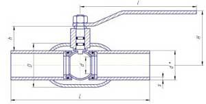 Краны шаровые LD для жидкости под приварку стандартнопроходные
