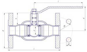 Краны шаровые LD для жидкости фланцевые полнопроходные