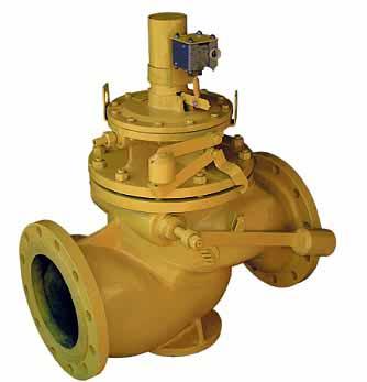 клапан предохранительный запорный типа ПКНэ, ПКВэ с электромагнитным исполнительным механизмом
